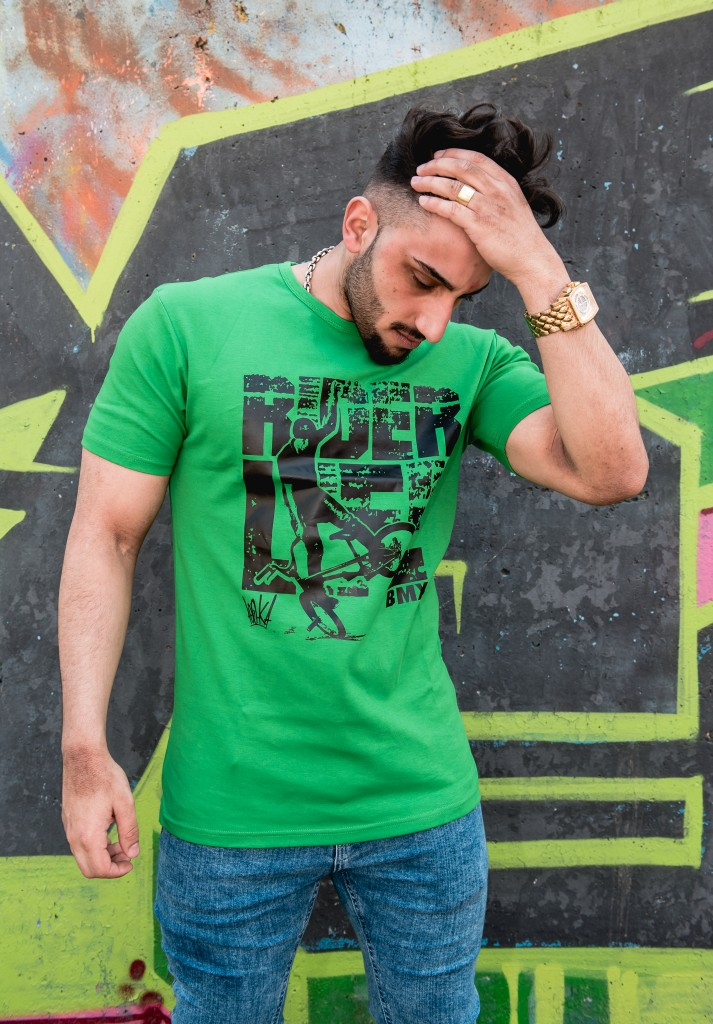 fec00908e184 Pánske zelené tričko