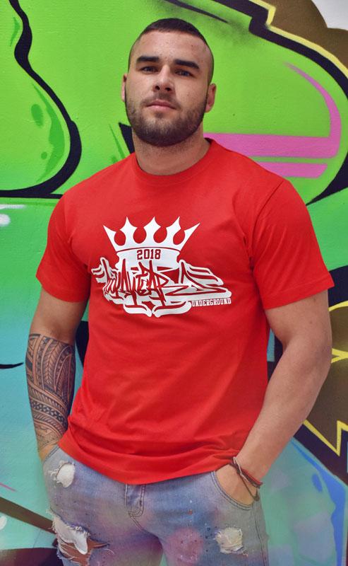 8fcb9c8ca298 Pánske červené tričko Royal graphite