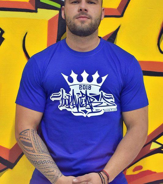 5626d308330a Pánske modré tričko Royal graphite